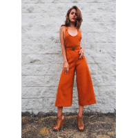 Drugonfly Orange Romper