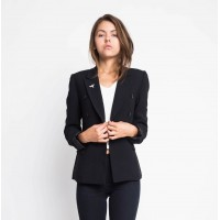 Drugonfly Black Office Jacket Casual